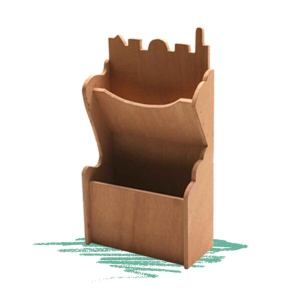 בנייה עצמית של מעמד לברכונים מעץ עם גימור גב של ירושלים.