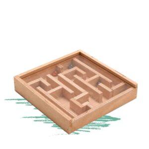 משחק מבוך גולות מעץ - בנייה עצמית