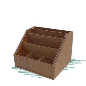 בניית רב תא מעץ למסמכים, ניירות ועטים