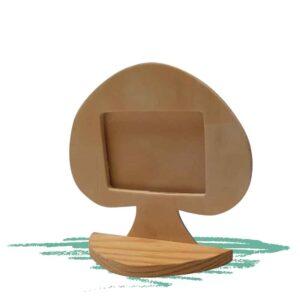 מסגרת תמונה מעץ בצורת פטריה