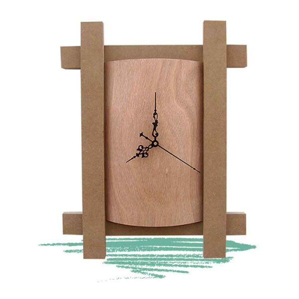 שעון עץ מעוגל
