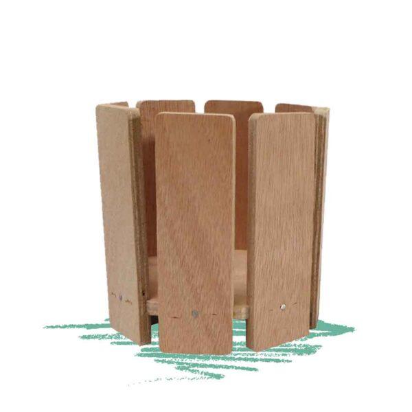 אדנית עץ עגולה לבנייה עצמית