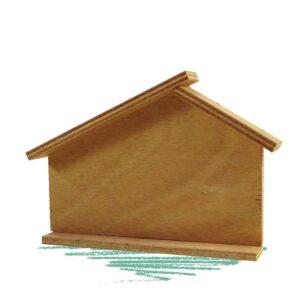 יצירת שלט לבית מעץ
