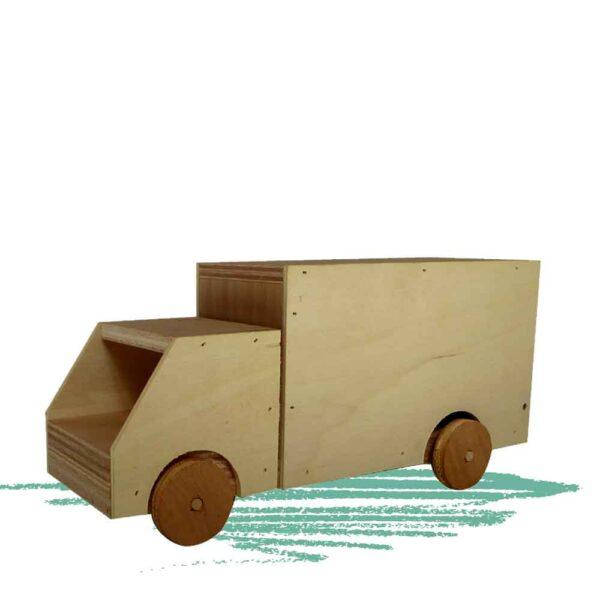 בניית משאית צעצוע לילדים מעץ