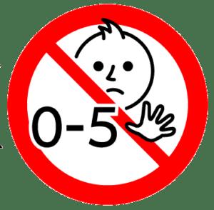 אזהרה: אסור לילדים מתחת לגיל 5