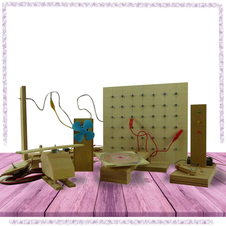 ערכות לבנייה בעץ בשילוב אלקטרוניקה