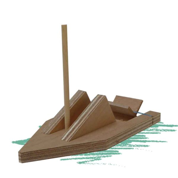 סירת עץ להרכבה עצמית