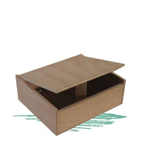 קופסה מעץ לבניה בפטיש, דבק ןמסמרים