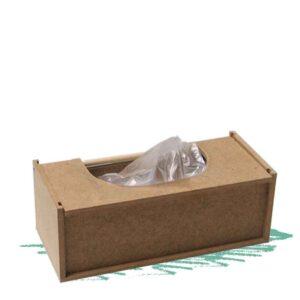 קופסה לשקיות נילון מעץ להרכבה עצמית