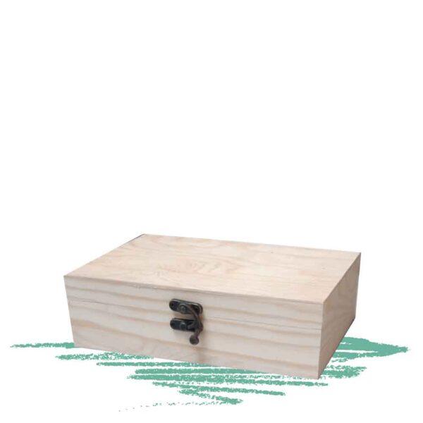 קופסת עץ עם סגירה לצביעה וקישוט אומנותי
