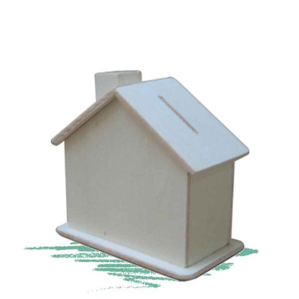 קופת צדקה מעץ בצורת בית