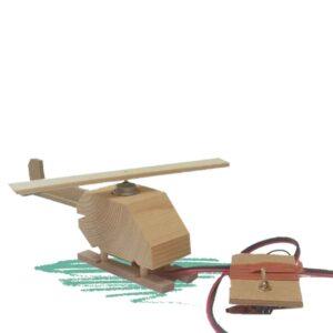 מסוק עם פלופלור מסתובב לבנייה עצמית בשילוב אלקטרוניקה