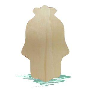 חיתוך חמסה מעץ לצביעה וקישוט
