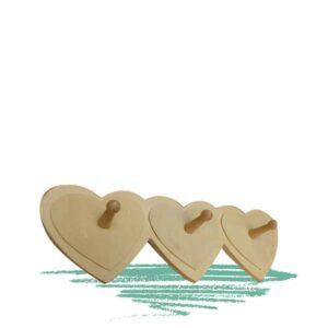מתלה עץ לבבות