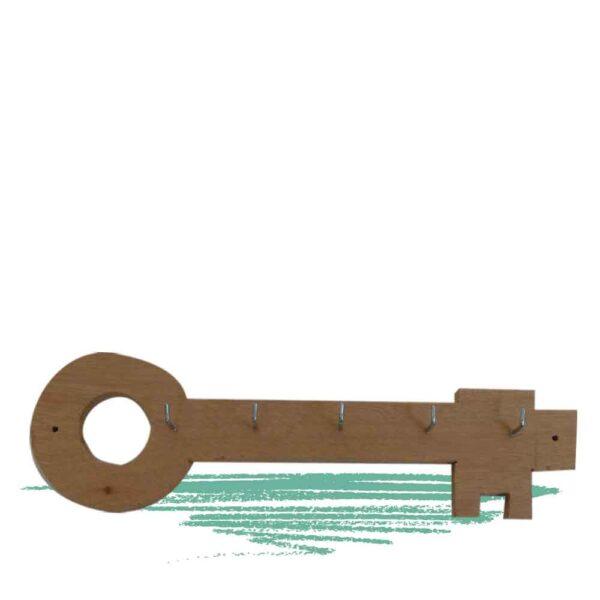 בניית מתלה למפתחות מעץ בצורת מפתח
