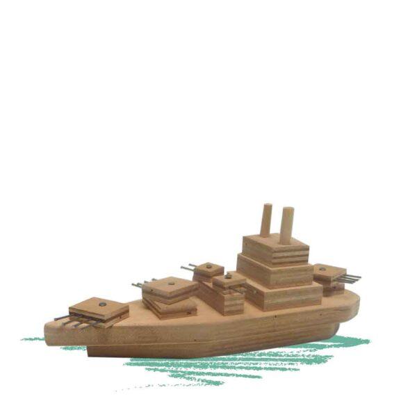 בניית ספינת מילחמה מעץ - נגרות לילדים